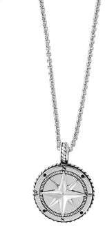 Effy Gento Sterling Silver Compass Pendant Necklace