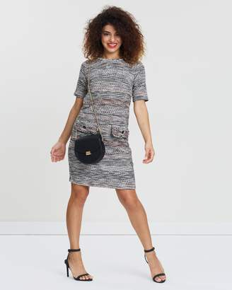 Wallis Petite Geo Jacquard Dress