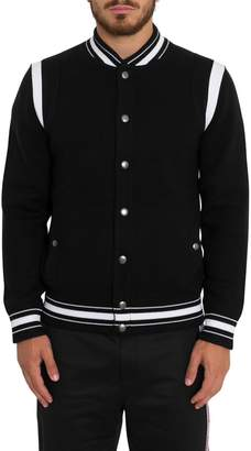 Givenchy Knitted Bomber Jacket With 4g Logo Embroidery