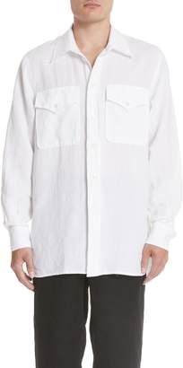 Our Legacy Oversize Linen & Cotton Shirt