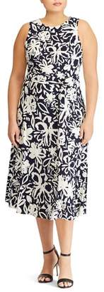 Lauren Ralph Lauren Feliana Coastal Floral Midi Dress