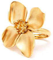 Oscar de la Renta Flower Ring, Golden