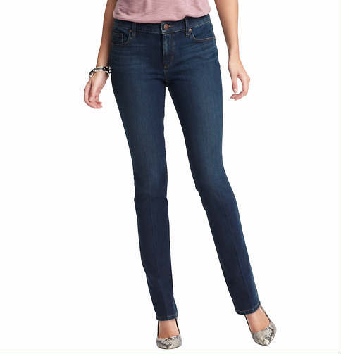 LOFT Tall Supreme Modern Straight Leg Jeans in Debate Blue