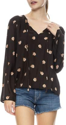 Amuse Society Like Minded Floral Tunic Top