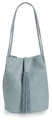 Street Level Faux Leather Bucket Bag - Blue $52 thestylecure.com