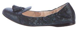 pradaPrada Glitter Round-Toe Loafers