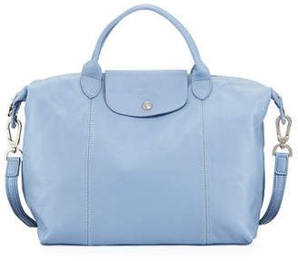 Longchamp Le Pliage Cuir Medium Handbag with Strap