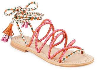 Antik Batik Women's Dori Braided Ankle-Strap Leather Sandals