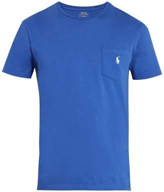 Polo Ralph Lauren Logo-embroidered patch-pocket cotton T-shirt