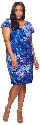 Lauren Ralph Lauren Plus Size Brisa Hortensia Floral Dress Women's Dress