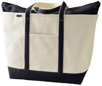 Lands' End White Extra Large Canvas Zip Top Tote Shopper