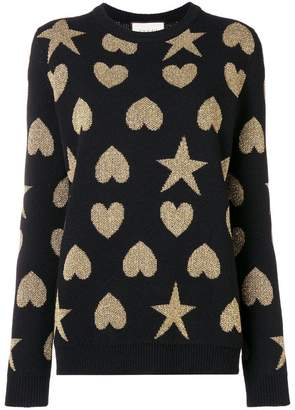 Gucci contrast shape knitted sweater