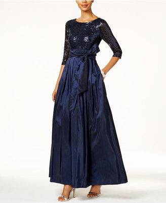 Jessica Howard Sequined Taffeta Ball Gown $149 thestylecure.com