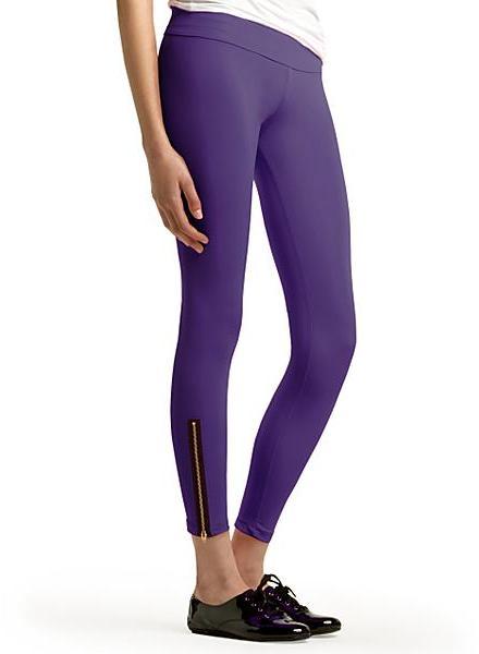LnA Zipper Leggings, Violet