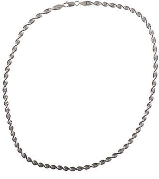 Adara Silver and Oxidised 18 Inches Twist Magic Chain