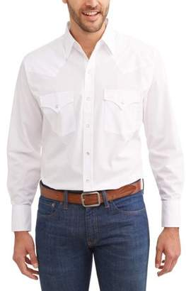 Plains Big and Tall Mens Long Sleeve Solid Western