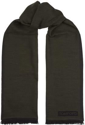 Tom Ford Herringbone Wool Scarf