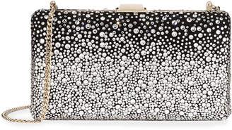 Jimmy Choo Clemmie Suede & Crystal Clutch Bag