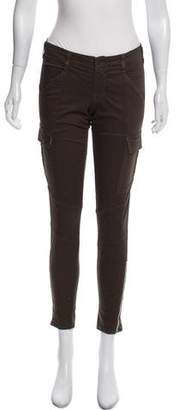 J Brand Mid-Rise Zip Accented Pants
