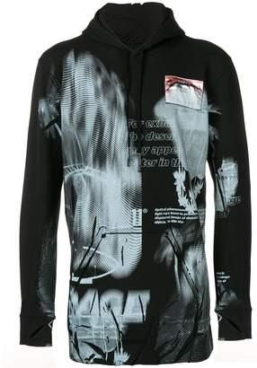 11 By Boris Bidjan Saberi graphic print mid-length hoodie