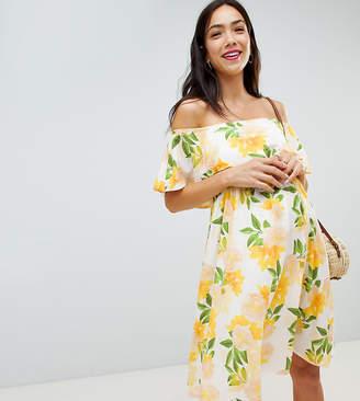 Bluebelle Maternity printed bardot dress