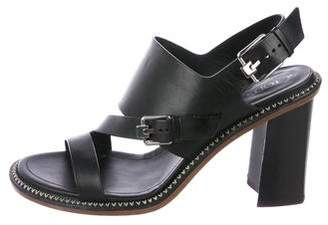 Tod's Leather Ankle-Strap Sandals