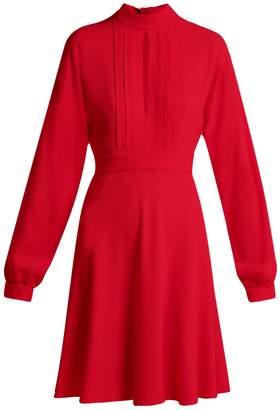 Giambattista Valli Keyhole-slit bodice crepe mini dress