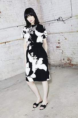 CONTEMPORARY Flower Print Belted Dress