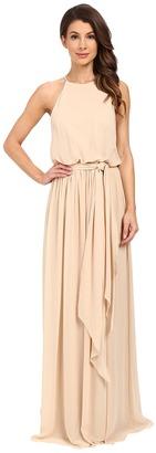 Donna Morgan - Alana Drape Blouson Gown Women's Dress $240 thestylecure.com