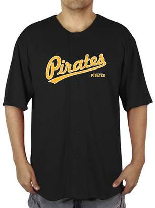 MLB Pittsburgh Pirates Men's Poly Button Down Jersey
