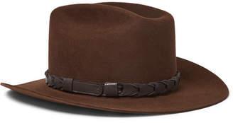Stetson Kingsman + Jack's Statesman Leather-Trimmed Felt Hat