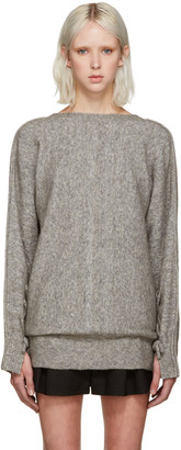 3.1 Phillip Lim Grey V-Back Sweater $525 thestylecure.com