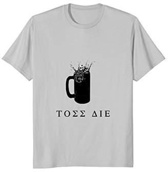 Beer Die Toss Die Greek Mug Tee