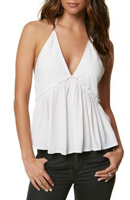 O'Neill Davina Embroidered Halter Neck Tank