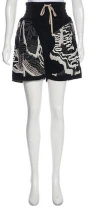 Rick Owens Embroidered Cashmere Shorts w/ Tags
