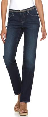 Women's Apt. 9® Curvy Fit Straight-Leg Jeans $44 thestylecure.com