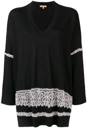 Ermanno Scervino lace embellished sweater