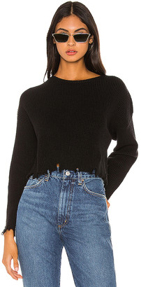 Lovers + Friends Arielle Distressed Sweater