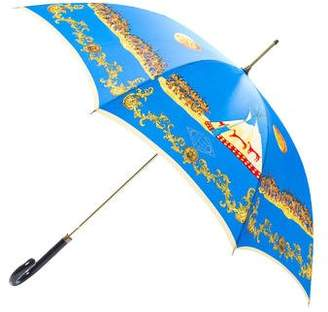 Gianni Versace Printed Oversize Umbrella