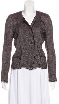 Isabel Marant Tweed Herringbone Jacket Red Tweed Herringbone Jacket