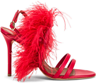 Malone Souliers Sonia MS 100 Heel in Red   FWRD