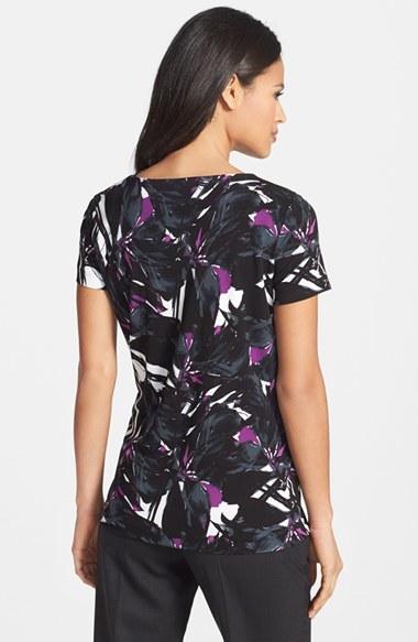 BOSS Floral Print Jersey Top 2
