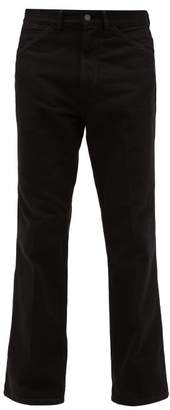Lemaire Pressed Front Straight Leg Jeans - Mens - Black