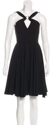 Halston Sleeveless A-Line Dress