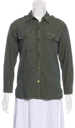 Current/Elliott Long Sleeve Button-Up Top