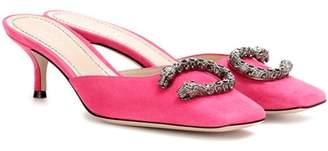 Gucci Dionysus suede kitten heels