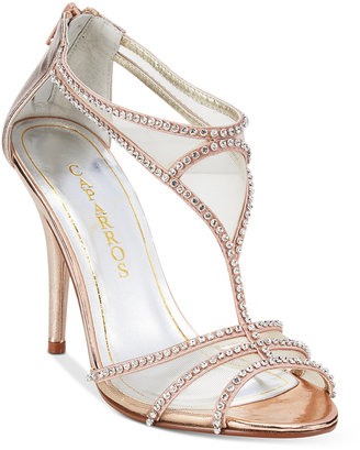 Caparros Blue Bell Strappy Illusion Evening Sandals $79 thestylecure.com