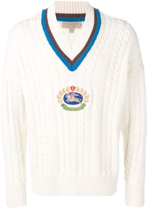 Burberry Cashmere Cotton Cricket Sweater
