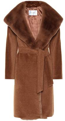 Max Mara Sublime fur-trimmed alpaca and wool coat