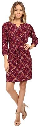 Christin Michaels Kingsport Plaid Tie Waist Dress $69 thestylecure.com
